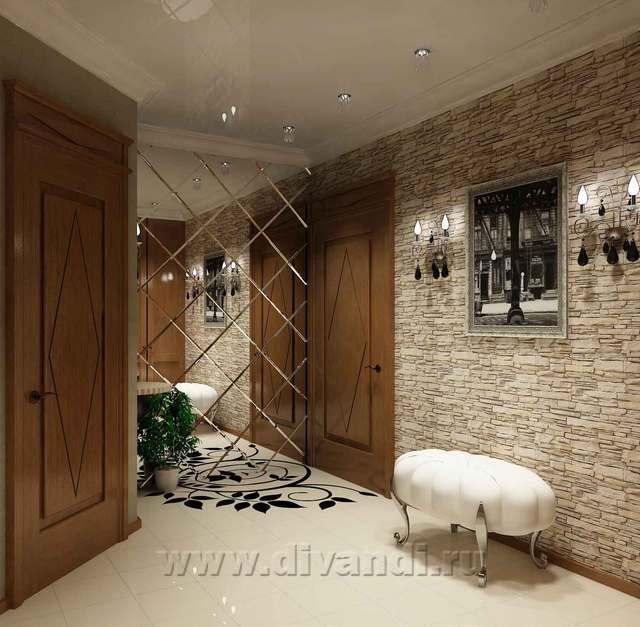 Дизайн стен в коридоре своими руками
